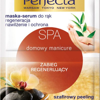 Perfecta SPA Domowy manicure zabieg szafirowy peeling do rąk + maska/serum 12ml