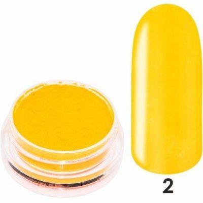 Pigment Em nail professional do zdobień Smoke Powder Siesta Nr 02 - Pomarańczowy