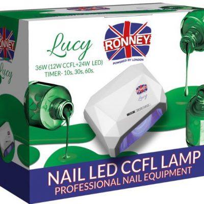 ronney RONNEY LUCY Profesjonalna lampa do paznocki CCFL + LED 38W (GY-LCL-021) - CIEMNO RÓŻOWA