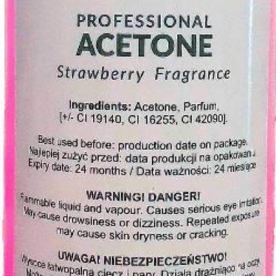 ronney RONNEY Professional ACETONE Strawberry 570 ml Truskawka (różowy)