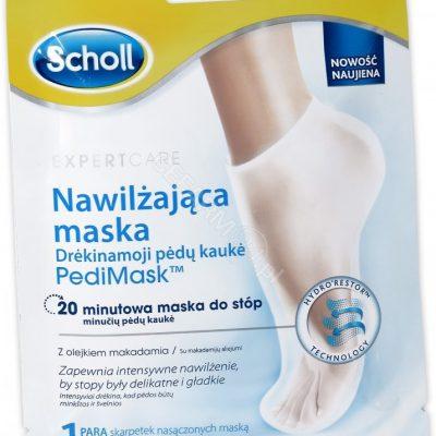 Scholl Pedi Mask maska nawilżająca do stóp Olejek Makadamia