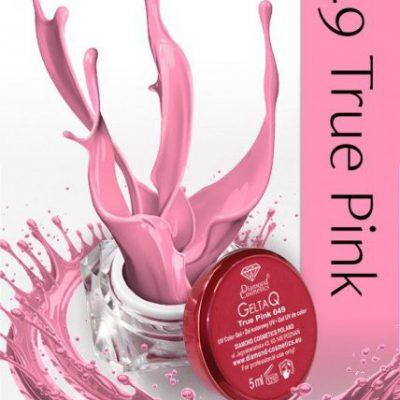 Semilac Diamond Cosmetics Żel UV kolor GeltaQ 049 True Pink