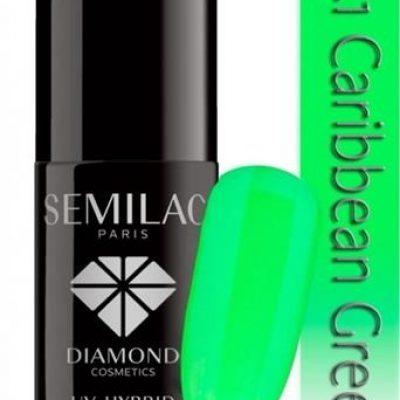 Semilac Lakier hybrydowy 041 Caribbean Green