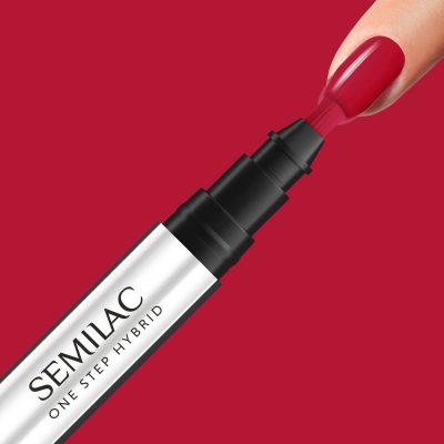 Semilac Semilac One Step Hybrid Pure Red S550 3ml ZE0503-SOSS550