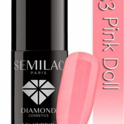 Semilac UV Hybrid lakier hybrydowy 033 Pink Doll 7ml
