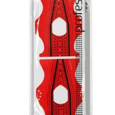 SILCARE Formy do paznokci DS05 Czerwone dwustronne 10 szt.