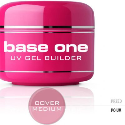 Silcare Gel Base One Cover Medium maskujący żel UV do paznokci 15g
