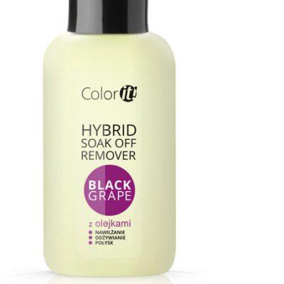 Silcare Hybrid Soak Off Remover COLOR IT z olejkami - Black Grape - płyn do usuwania hybryd 150 ml