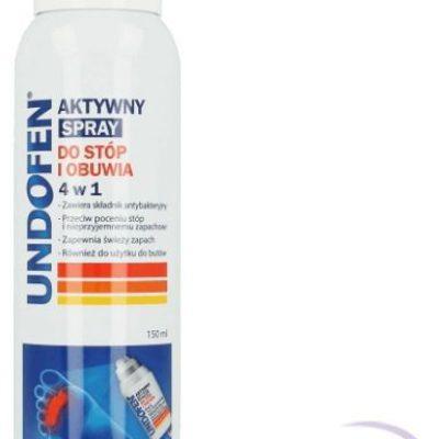 Undofen Aktywny spray 4w1 do stóp i obuwia 150ml