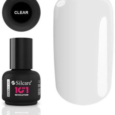 Vanity Silcare 10 in 1 revolution lakier hybrydowy clear z pędzelkiem 15g BU503015