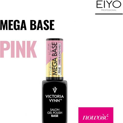 Victoria Vynn MEGA BASE PINK HARD&LONG NAILS 8 ml NOWOŚĆ! 330609