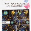 Em nail professional Naklejki wodne do paznokci - Kwiatki (N858p)