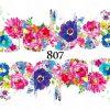 Naklejki wodne na paznokcie Wiosenne Kwiaty - 807